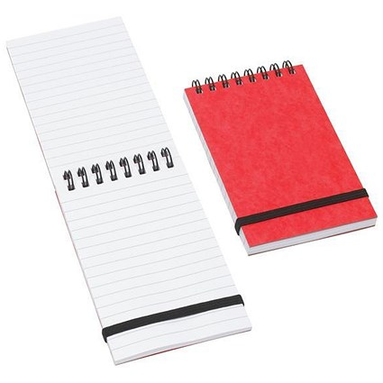 Cambridge Wirebound Notebook with Elastic Band / 127x76mm / Feint Ruled / 192 Pages / Pack of 10