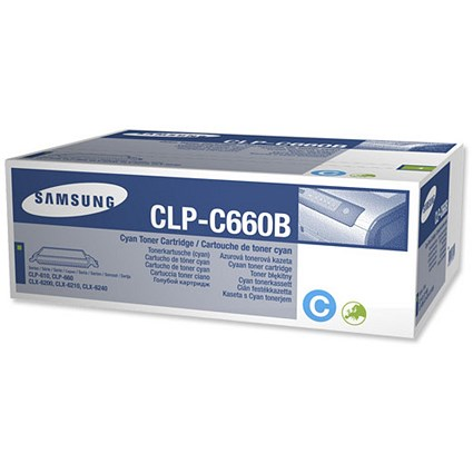 Samsung CLP-C660B High Yield Cyan Laser Toner Cartridge