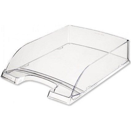 Leitz High-Sided Letter Tray with Extra Label Space - Clear