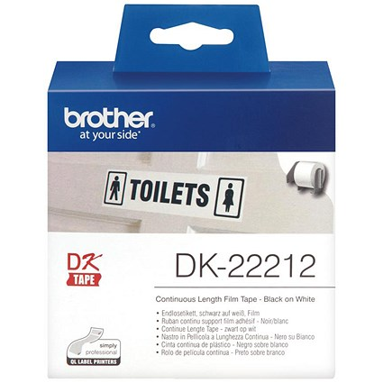 Brother Label Continuous Film 62mmx15.24m White Ref DK22212
