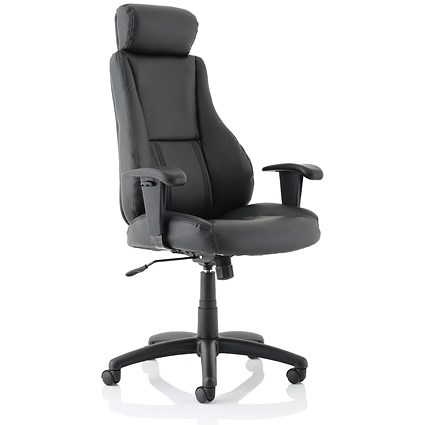 Trexus Hampshire Plus Managers Leather Chair - Black