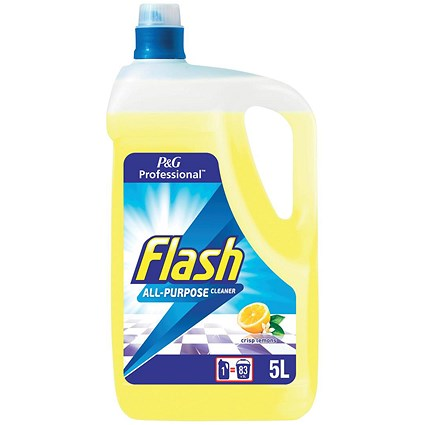 Flash All Purpose Cleaner for Washable Surfaces / Lemon Fragrance / 5 Litres