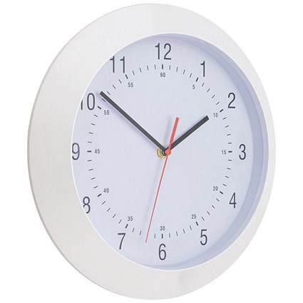 5 Star Wall Clock With Coloured Case Diameter 300mm White