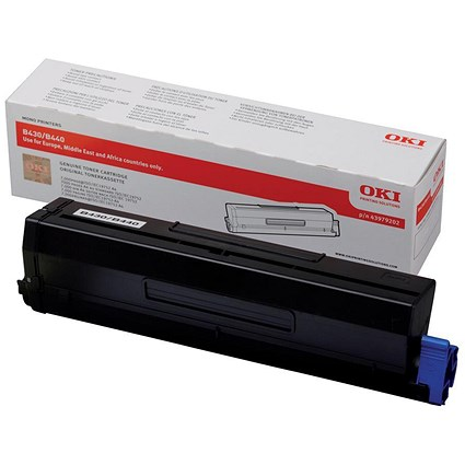 Oki 43979202 Black High Capacity Laser Toner Cartridge