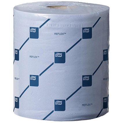 Tork Reflex Wiper Rolls, 2-Ply, Blue, 6 Rolls of 429 Sheets
