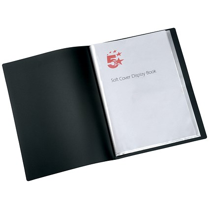 5 Star Soft Cover Display Book / 40 Pockets / A4 / Black