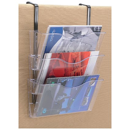 Brochure Files Landscape / 3 Pockets / A4 / Clear / Pack of 3