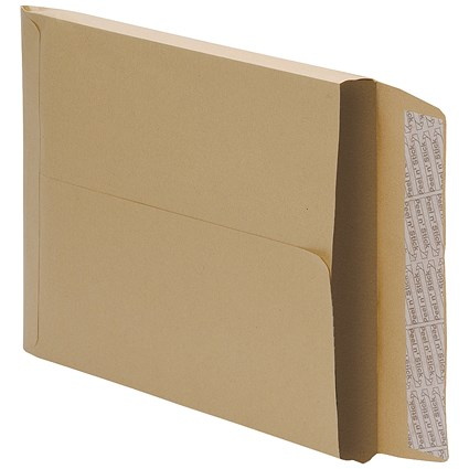 5 Star C4 Gusset Envelopes / 25mm Gusset / Peel & Seal / Manilla / Pack of 125
