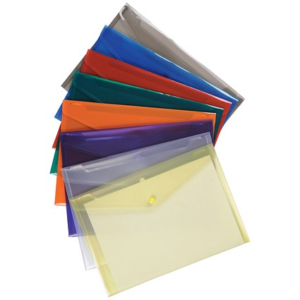 5 Star A4 Envelope Wallets, Assorted, Pack of 25