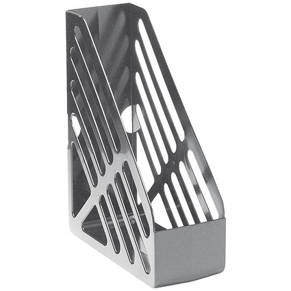 5 Star Foolscap Magazine Rack - Grey