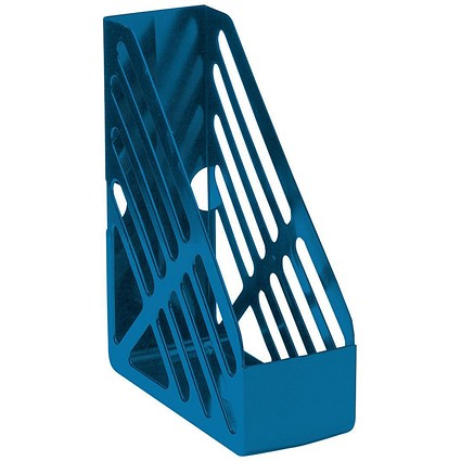 5 Star Magazine Rack / Foolscap / Blue