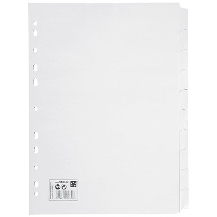 5 Star Subject Dividers, 10-Part, A4, White