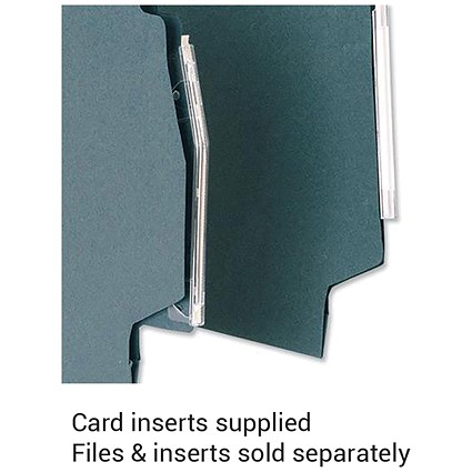 5 Star Lateral Files Card Inserts, White, Pack of 56
