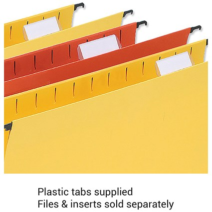 5 Star Wrapover Suspension File Tabs / Clear / Pack of 50
