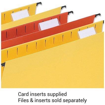 5 Star Wrapover Suspension File Card Inserts / White / Pack of 50
