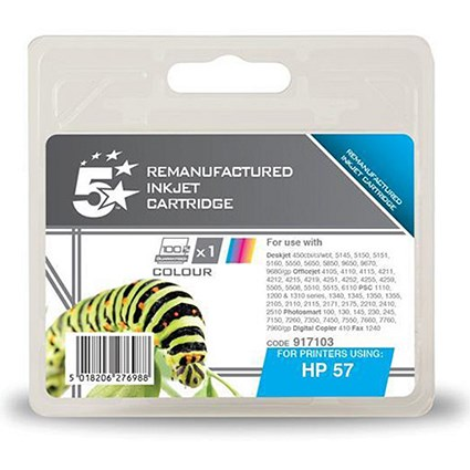 5 Star Compatible - Alternative to HP 57A Colour Ink Cartridge