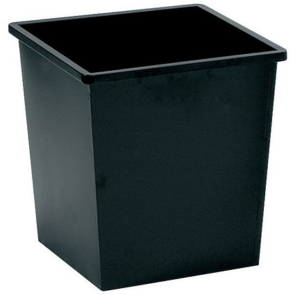5 Star Square Waste Bin, Metal, Scratch Resistant, W325xD325xH350mm, 27 Litres, Black