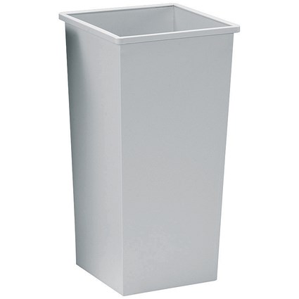 5 Star Square Waste Bin, Metal, Scratch-resistant, W325xD325xH642mm, 48 Litres, Grey