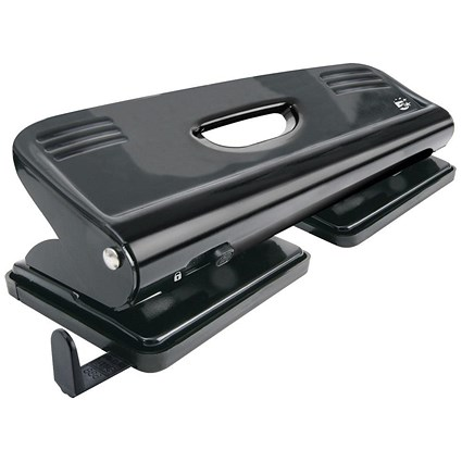 5 Star 4-Hole Punch, Black, Punch capacity: 16 Sheets
