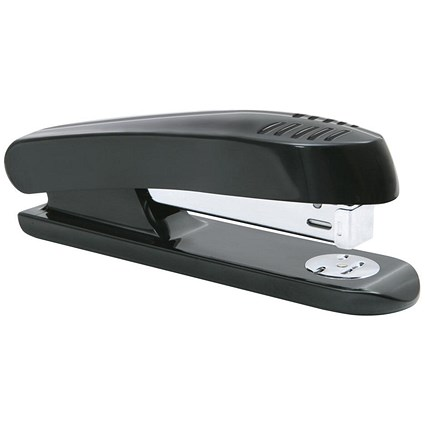 5 Star Full Strip Stapler - Plastic, 20 Sheet Capacity, Black