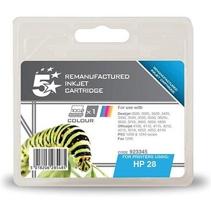 5 Star Compatible - Alternative to HP 28 Tri-Colour Ink Cartridge