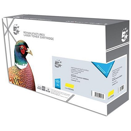 5 Star Compatible - Alternative to HP 643A Yellow Laser Toner Cartridge