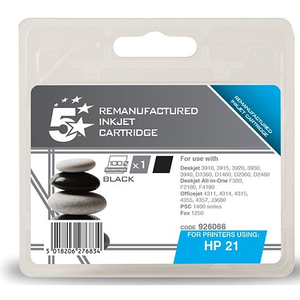 5 Star Compatible - Alternative to HP 21 Black Ink Cartridge