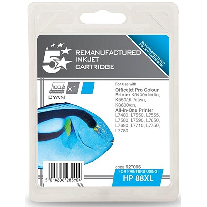 5 Star Compatible - Alternative to HP 88XL Cyan Ink Cartridge