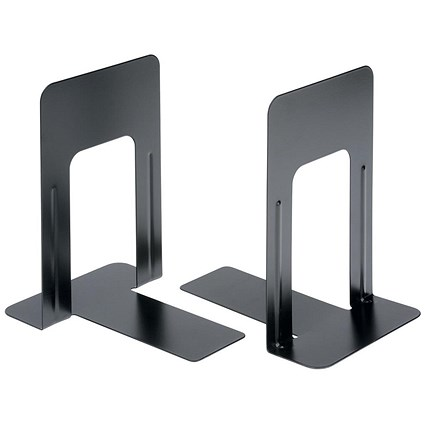 5 Star Heavy Duty Metal Bookends / 229mm / Black / Pack of 2