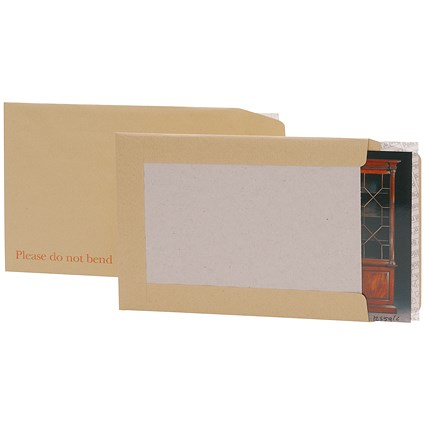 5 Star C3 Board-backed Envelopes, 120gsm, Peel & Seal, Manilla, Pack of 50