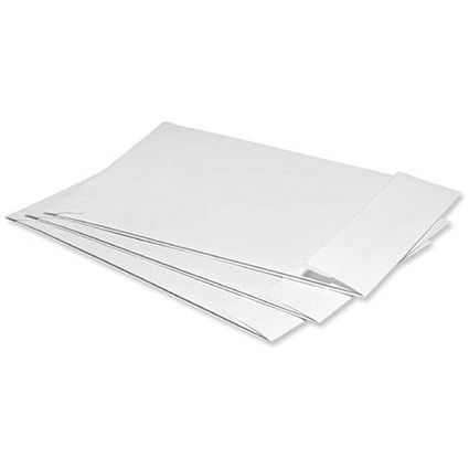 5 Star C4 Gusset Envelopes with Window, 25mm Gusset, Peel and Seal, White, Pack of 125