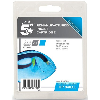 5 Star Compatible - Alternative to HP 940XL Cyan Ink Cartridge