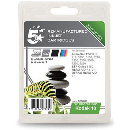 5 Star Compatible - Alternative to Kodak 10B/10C Black and Colour Inkjet  Cartridges (Twin Pack)