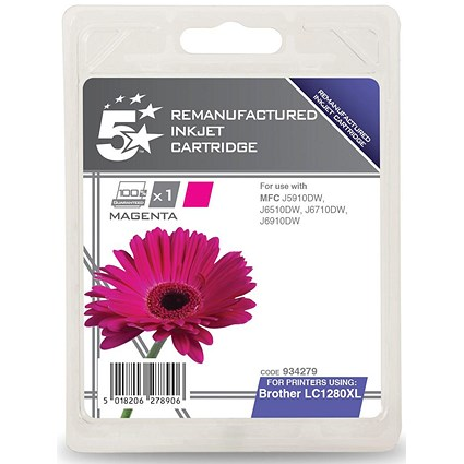 5 Star Compatible - Alternative to Brother LC1280XLM Magenta Inkjet Cartridge