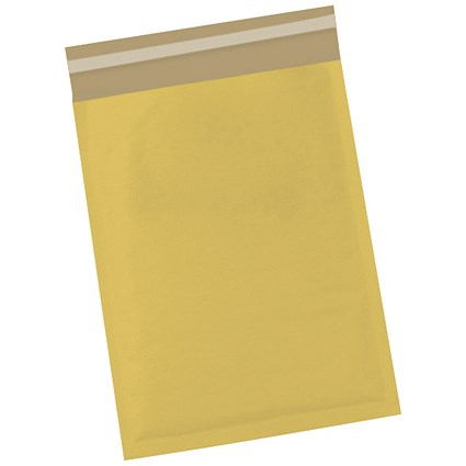 5 Star No.4 Bubble Bags, 240x320mm, Peel & Seal, Gold, Pack of 50