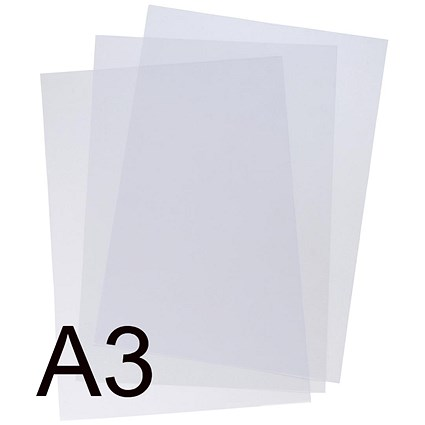 5 Star Binding Covers / 190 micron / Clear / A3 / Pack of 100