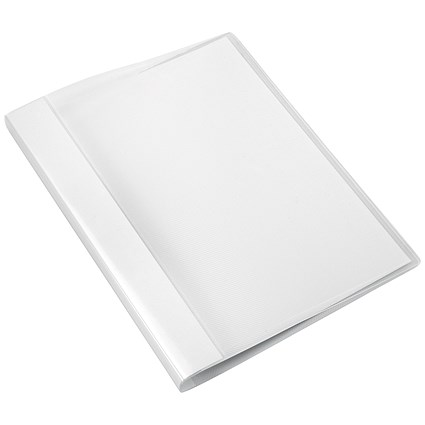 5 Star A4 Clamp Binders, Clear, Pack of 10