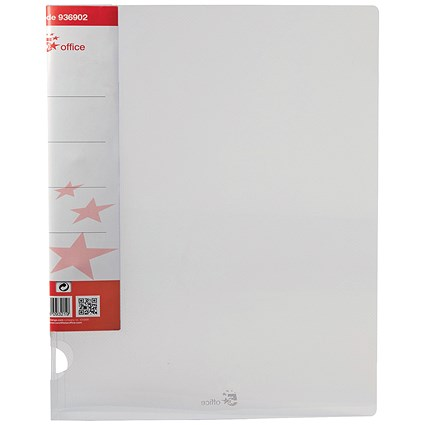 5 Star Ring Binder / A4 / Translucent / 25mm Capacity / Clear / Pack of 10