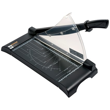 5 Star Paper Guillotine Cutter / 10 Sheet Capacity / A4 / Table Size: 245x335x10mm / Silver & Black