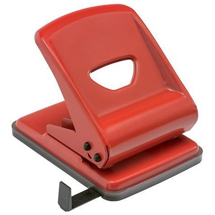 5 Star 2-Hole Punch / Red / Punch capacity: 40 Sheets
