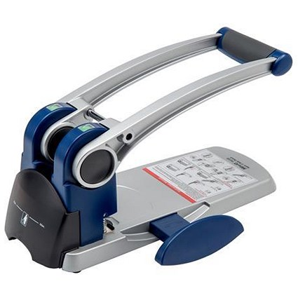 5 Star Heavy-duty 2-Hole Punch with Long Handle / Silver / Punch capacity: 300 Sheets