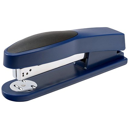 5 Star Full Strip Stapler, Rubber Body, 25 Sheet Capacity, Blue