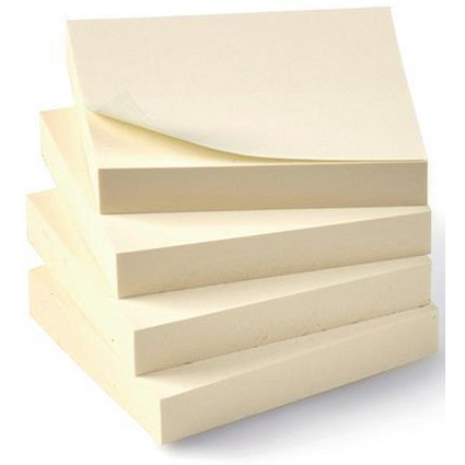 5 Star Eco Recycled Sticky Notes / 38x51mm / Yellow / Pack of 12