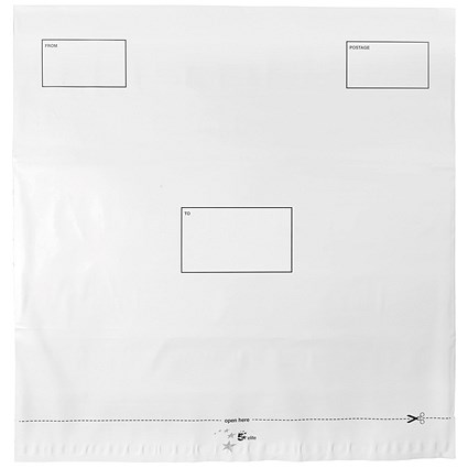 5 Star DX Envelopes, Waterproof, 475x440mm, Peel & Seal, White, Pack of 100