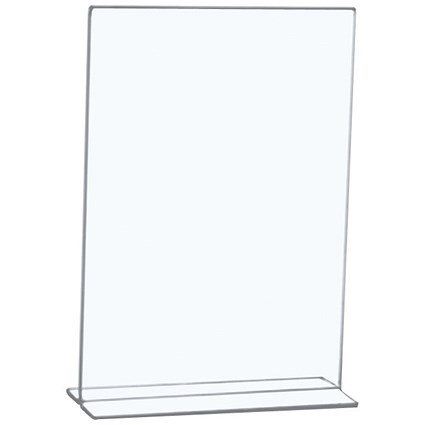 5 Star Sign Holder / Portrait / Stand Up / A4 / Clear