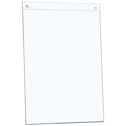 5 Star Wall Display Sign Holder, Portrait, A4, Clear