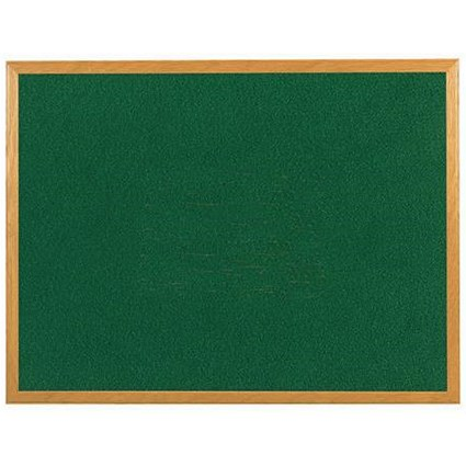 5 Star Felt Noticeboard / W1200xH900mm / Wooden Frame / Green