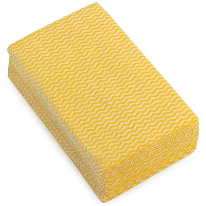 5 Star Cloths / Anti-microbial / Wavy Yellow / Pack of 50