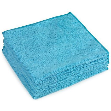 5 Star Premium Microfibre Cloth / Blue / Pack of 5