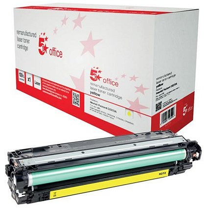 5 Star Compatible - Alternative to HP 650A Yellow Laser Toner Cartridge